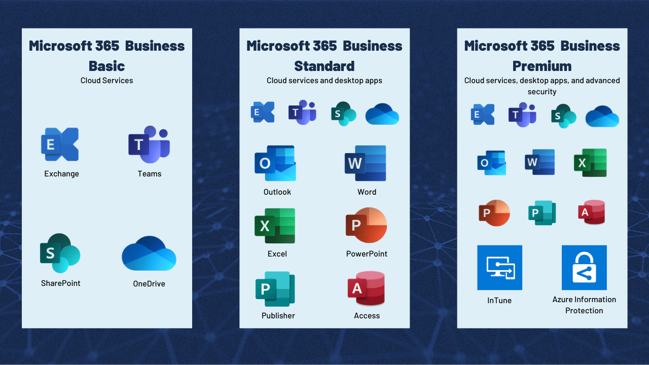 MS 365 Subscriptions infographic