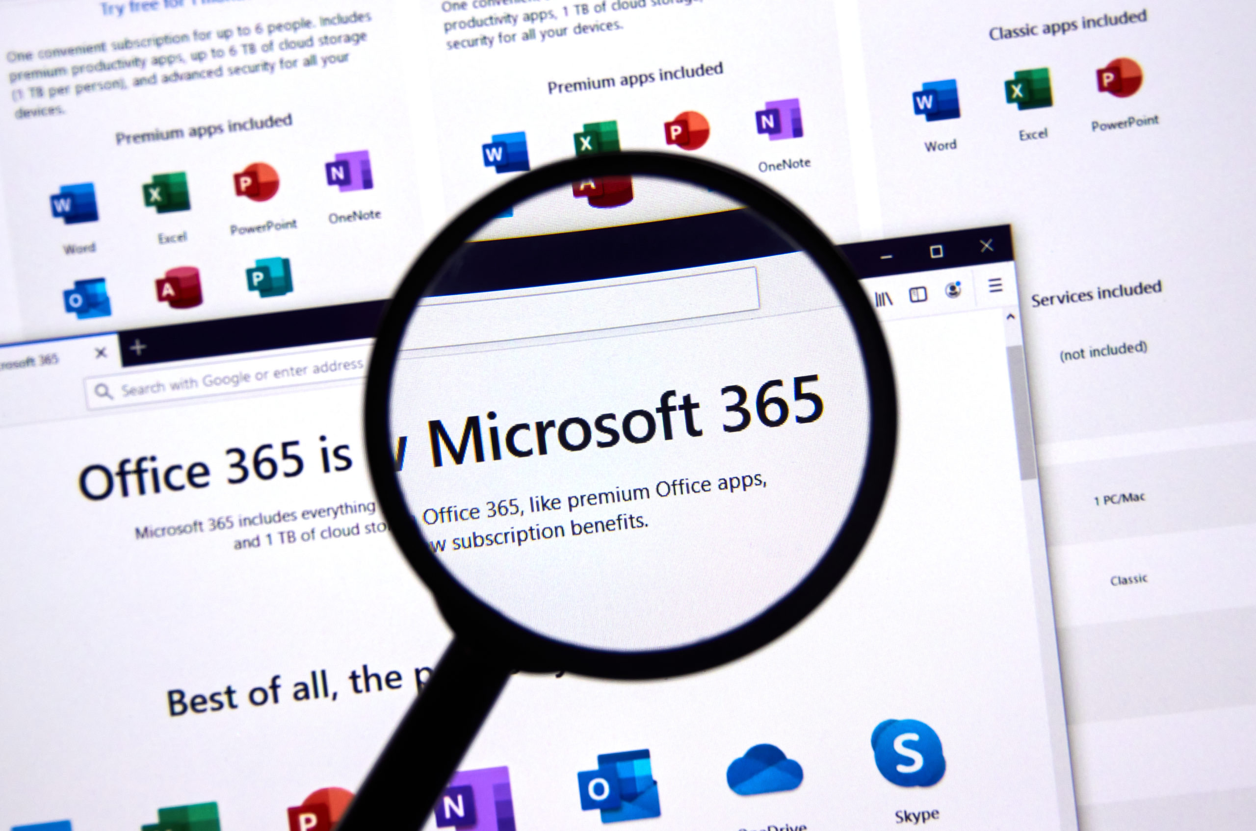 Microsoft 365 under magnifying glass