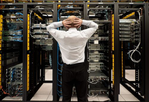 datacentre with servers and disaster recovery